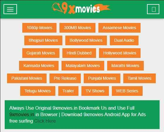 9xmovies Website Latest Working URL to Download Bolltwood, Hollywood, Mp4, 3gp, AVI,MKV, 100mb, 300mb, 700mb Movies and Web series. 1