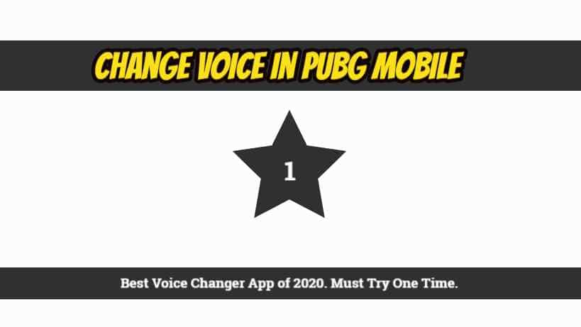 How to Change Voice in PUBG Mobile Best Voice Changer App 2020 1 (3)