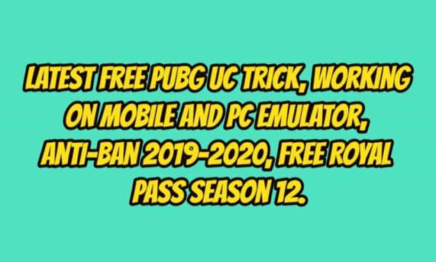 Latest Free PUBG UC Trick, Working on Mobile and PC, Anti-Ban 2019-2020.