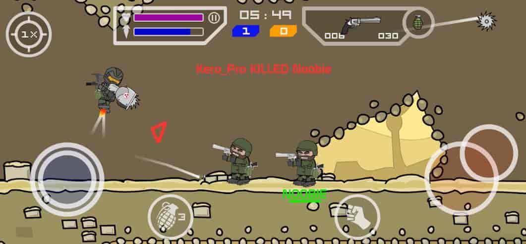 Mini Militia Mod Apk Download Doodle Army 2, Unlimited Health, Coins, Latest Version 2020 3